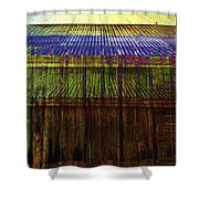 Tin Roofs Shower Curtain