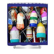 Tin Shed Floats Shower Curtain