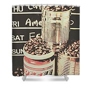 Tin Signs And Coffee Shops Shower Curtain