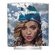 Tinashe Shower Curtain