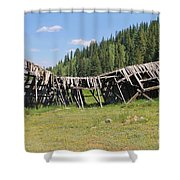 Tincup History 3 Shower Curtain