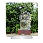 Tindaro Screpolato Sculpture In Boboli Garden 0197 Shower Curtain
