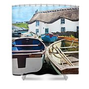 Tinker Taylor Cottage Sennen Cove Cornwall Shower Curtain