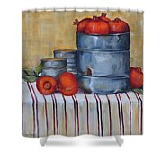 Red Pomegranates Shower Curtain