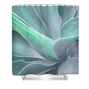 Tinted Agave Attenuata Abstract Shower Curtain