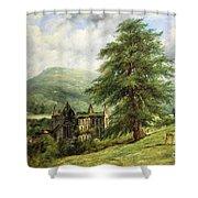Tintern Abbey  Shower Curtain