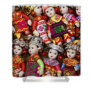 Tiny Chinese Dolls Shower Curtain