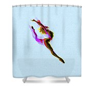 Tiny Dancer Acrylic Painting Brighter Color Change Shower Curtain