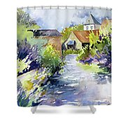 Tiny Hamlet Shower Curtain