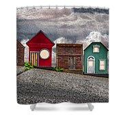 Tiny Houses On Walnut Street Shower Curtain