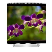 Tiny Purple Blooms Shower Curtain