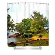 Tioman Island Beach Shower Curtain