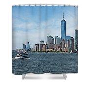 Tip Of Manhattan Wide Shower Curtain