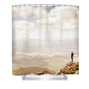 Tip Of Mt Zeehan Tasmania  Shower Curtain