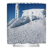 Tip Top House - Mount Washington New Hampshire  Shower Curtain by Erin Paul Donovan