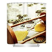 Tipping The Time Map Shower Curtain