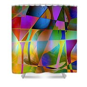 Tipsy Shower Curtain