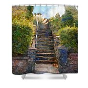 Tipsy Stairs Shower Curtain