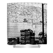 Tire Center Shower Curtain