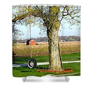 Tree Tire Swing  Shower Curtain