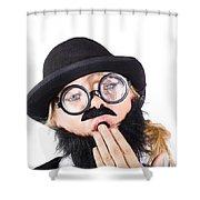 Tired Businessperson Shower Curtain