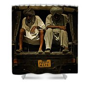 Tired Life  Shower Curtain