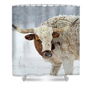 Tired Of Snow Shower Curtain