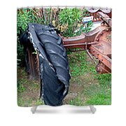 Tired Tractor Tire Shower Curtain
