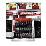 Tires And Battery Shower Curtain