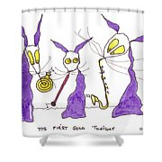 Tis First Solo Tonight Shower Curtain