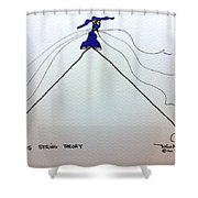 Tis String Theory Shower Curtain