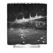 Titanic: Re-creation, 1912 Shower Curtain