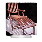 Titanic Teak Lounge Shower Curtain