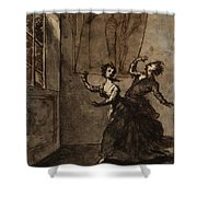 Title The Ghost Scene Shower Curtain