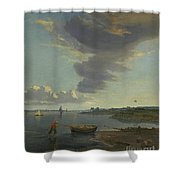 Title The Thames Below Woolwich Shower Curtain
