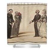 Title Three Clergymen  Shower Curtain
