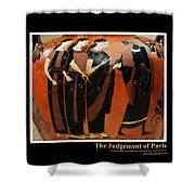 Titled Judgement Of Paris Shower Curtain