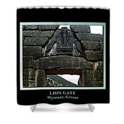 Titled Lion Gate Of Mycenae Shower Curtain