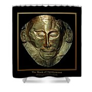 Titled Mask Of Agamemnon Shower Curtain