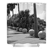 Titusville On The Indian River Lagoon In Florida Shower Curtain