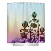 Tivoli Balloon Ride Shower Curtain