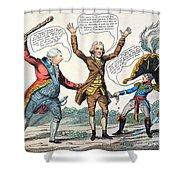 T.jefferson Cartoon, 1809 Shower Curtain