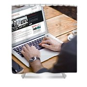 Tkt Cast Cms Website Design Shower Curtain