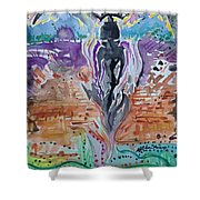 Tlazolteotl, Creative, Absolution And Healing Shower Curtain