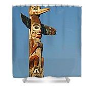 Tlingit Totem Pole Shower Curtain by Greg Vaughn - Printscapes