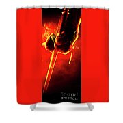 Tmnt 1   -  Raphael Smoky Red. Shower Curtain
