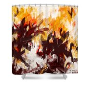 To Be With You Abstract Shower Curtain