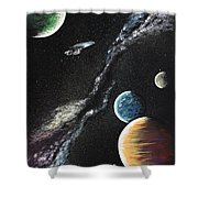To Boldly Go Shower Curtain