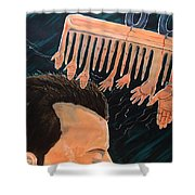 To Comb The Social Reactions Shower Curtain