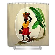 To Market Shower Curtain by Karin  Dawn Kelshall- Best